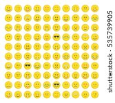 set of yellow emoticons  icon... | Shutterstock .eps vector #535739905