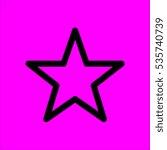 star symbol icon flat disign