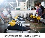 worker making shoe in... | Shutterstock . vector #535745941