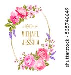 wedding invitation card... | Shutterstock .eps vector #535746649