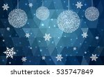 dark blue christmas postcard... | Shutterstock .eps vector #535747849