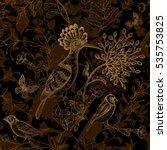 birds and flowers vector... | Shutterstock .eps vector #535753825
