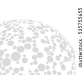 abstract globe dotted sphere ... | Shutterstock .eps vector #535755655