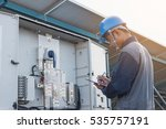 engineer or electrician working ... | Shutterstock . vector #535757191