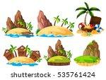 different scenes of islands... | Shutterstock .eps vector #535761424