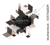 geometric background template... | Shutterstock .eps vector #535766839
