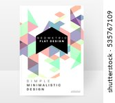 geometric background template... | Shutterstock .eps vector #535767109