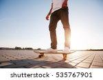 skateboarder riding in the city   Shutterstock . vector #535767901