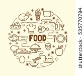 food minimal thin line icons... | Shutterstock .eps vector #535770784