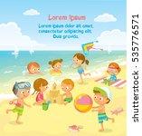 children's summer activities at ... | Shutterstock .eps vector #535776571