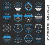 set of skateboarding logo ... | Shutterstock . vector #535780135