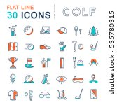 set  line icons game golf and ... | Shutterstock . vector #535780315