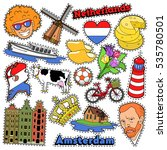 netherlands travel scrapbook... | Shutterstock .eps vector #535780501