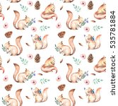seamless pattern with... | Shutterstock . vector #535781884