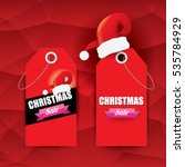 vector christmas sales tag or... | Shutterstock .eps vector #535784929