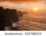 famous cliffs of moher at... | Shutterstock . vector #535788529