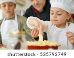 pastry chef watching kids... | Shutterstock . vector #535793749