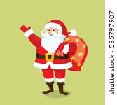 santa claus with sack of gifts | Shutterstock .eps vector #535797907