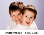 two brothers smiling | Shutterstock . vector #53579887
