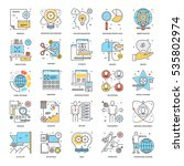 flat color line icons 6 | Shutterstock .eps vector #535802974