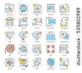 Flat Color Line Icons 4
