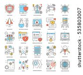 flat color line icons 9 | Shutterstock .eps vector #535803007