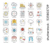 flat color line icons 17 | Shutterstock .eps vector #535803739