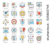 Flat Color Line Icons 10