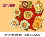 dinner food icon of vegetable...   Shutterstock .eps vector #535805209