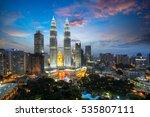 kuala lumpur skyline by night ... | Shutterstock . vector #535807111