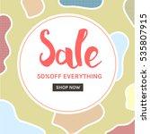 stylish social media sale... | Shutterstock .eps vector #535807915