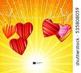 vector valentine's day...   Shutterstock .eps vector #535808059