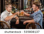 friends and beer. two male... | Shutterstock . vector #535808137