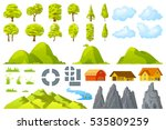 set of landscape elements trees ... | Shutterstock .eps vector #535809259