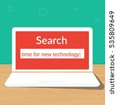 time for new technology search... | Shutterstock .eps vector #535809649