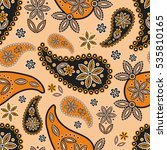 paisley seamless pattern.... | Shutterstock .eps vector #535810165