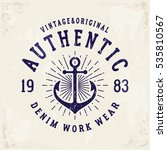 authentic denim print for t... | Shutterstock .eps vector #535810567