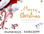 christmas decorations and... | Shutterstock . vector #535813099