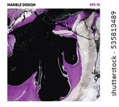 marble design hand painted... | Shutterstock .eps vector #535813489