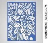 die cut card. laser cut vector... | Shutterstock .eps vector #535813975