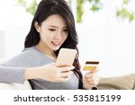 young beautiful woman with...   Shutterstock . vector #535815199