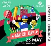cricket advertisement poster in ... | Shutterstock .eps vector #535815364