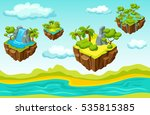 computer game level including... | Shutterstock .eps vector #535815385