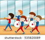 kids playing music in school... | Shutterstock .eps vector #535820089