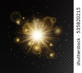 glow light effect with golden... | Shutterstock .eps vector #535820215