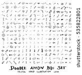 vector hand drawn arrows set | Shutterstock .eps vector #535822801