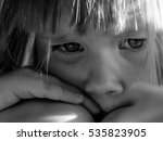 sad child crying | Shutterstock . vector #535823905