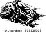bull dog flame tattoo in beast...   Shutterstock .eps vector #535825015