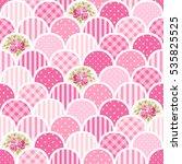 cute seamless vintage pattern... | Shutterstock .eps vector #535825525