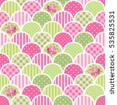 cute seamless vintage pattern... | Shutterstock . vector #535825531